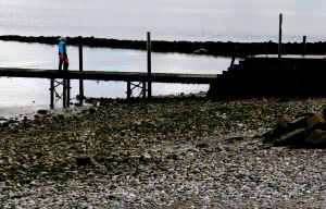 Him on the jetty by waggysue