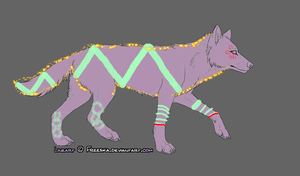 1 POINT WOLF ADOPT by Artisticflame