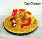 Bilbo and Smaug caketopper by Naera