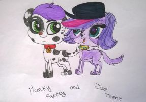 Littlest Pet Shop - Marky Spotty and Zoe Trent by MortenEng21