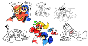 Mega Man Dump 01 by Cuboidal