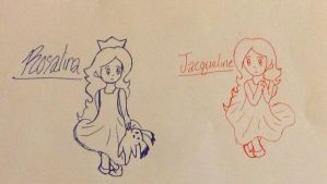 Young Princess Rosalina and Queen Jacqueline by StarryRosieArtist
