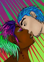 Neon Kisses by SpyderBryte