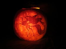 Nightmare Moon Pumpkin by atelok
