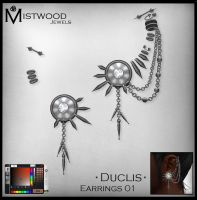 Duclis - Earrings Unisex by Aedil