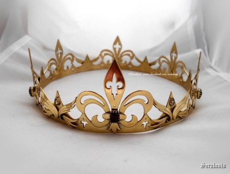 'Noble heart', Handmade Medieval Crown by seralune