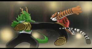 Dragon vs Tiger by Purpleground02