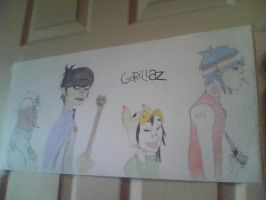 Gorillaz poster by Killian-sensei