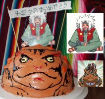 Food Art Jiraiya and Frog cake by Myrcury-Art