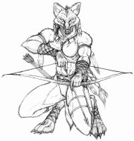 Female maned wolf archer by WolfLSI