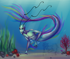 Colored Sketches: Mer-Valn by serenadefox