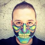 Psychedelic Skull Mask by RonnieMena
