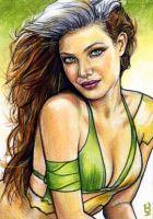 Rogue Sketch Card 16 by veripwolf