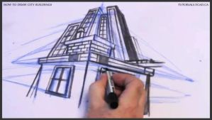 Learn how to draw city buildings 030 by drawingcourse
