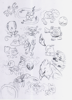 Pokemon sketches 22112012 by toongrowner