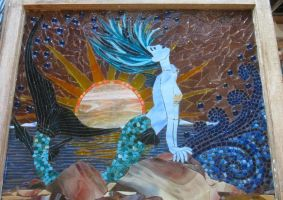 Marina Mermaid Mosaic by reflectionsshattered