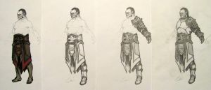 Orc Armor Sketches Progression by Armenoc