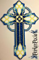 Blue Cross by PerlerPixie