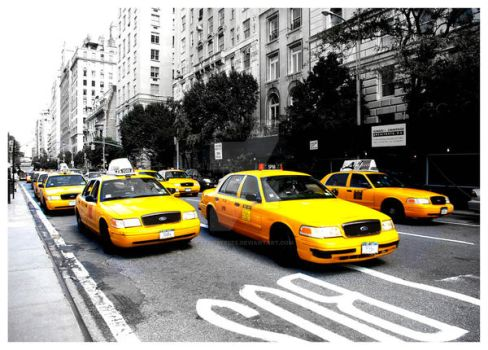 New York Taxis by elliebeeeee