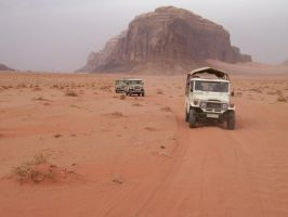 Jeeps at Wadi Rum by I-Artemis-I