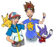 Crossover Pokemon and Digimon by arsyahLamuness