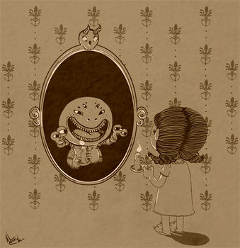 Monster in the Mirror by Marzipanapple