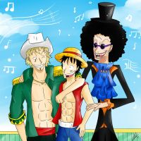 Rumbar and Straw Hats :D by Smudgeandfrank