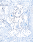 Lucario and Riolu (Blues) by CougarLeon2