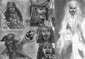 Jack Sparrow Compilation WIP 19 by diablocyrus