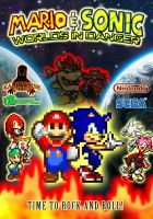Mario and Sonic Worlds in Danger Poster by HeiseiGoji91