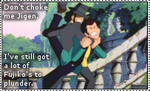 Don't choke me Jigen_STAMP by FilmmakerJ