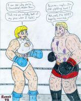 Boxing Power Girl vs Mister Incredible by Jose-Ramiro