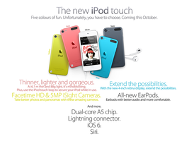 The New iPod touch. Five Colours of Fun. by theIntensePlayer