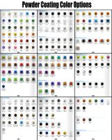 Powder Coating Color Options by Smitty-Tut