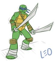 TMNT: Leo sketch by Succubii