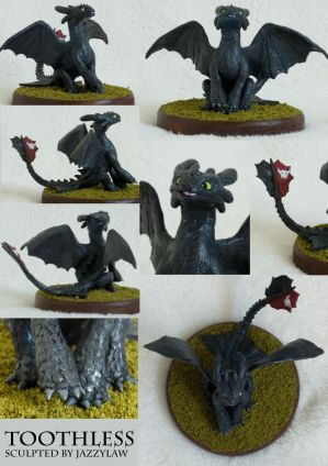 Toothless Sculpture by Jassylaw