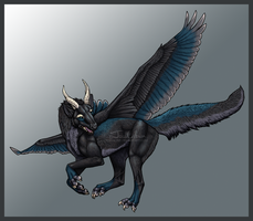 Dragon Wolf Commission by Servaline