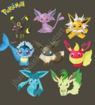 eeveelution chart by jhaicblank