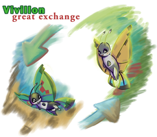 Vivillon Great Exchange by TheBeastOfHearts