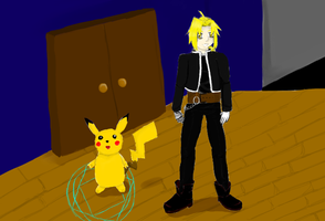 Ed and Pikachu by PervertedEmoGamer