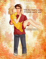 Oh for God's sake, I'll just carry you. by FireLordWael