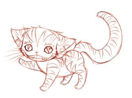 the cheshire cat... sketch by sureya