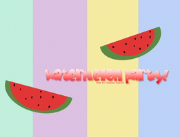 Watermelon Party by hidingmymess