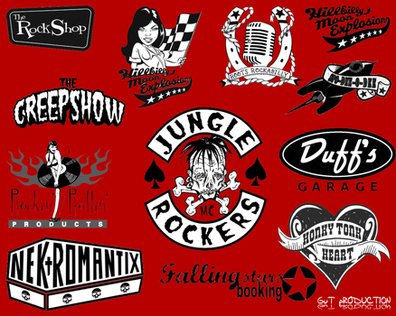 12 Rockabilly Brushes by gutdesigns