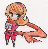 Chibi Cyborg003 and 001 by StarValerian