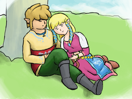 Link and Zelda by AgentLym