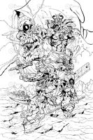 The mutants and Mumm-ra Inks by benyhibridos