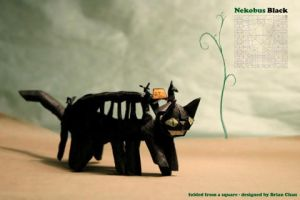 Nekobus Origami - Black by chosetec