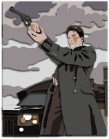 Shadowbox Mock-up:  Captain Jack Harkness by The-Paper-Pony