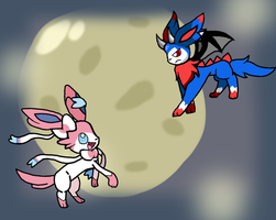 Draceon VS Sylveon by Francis-Chan